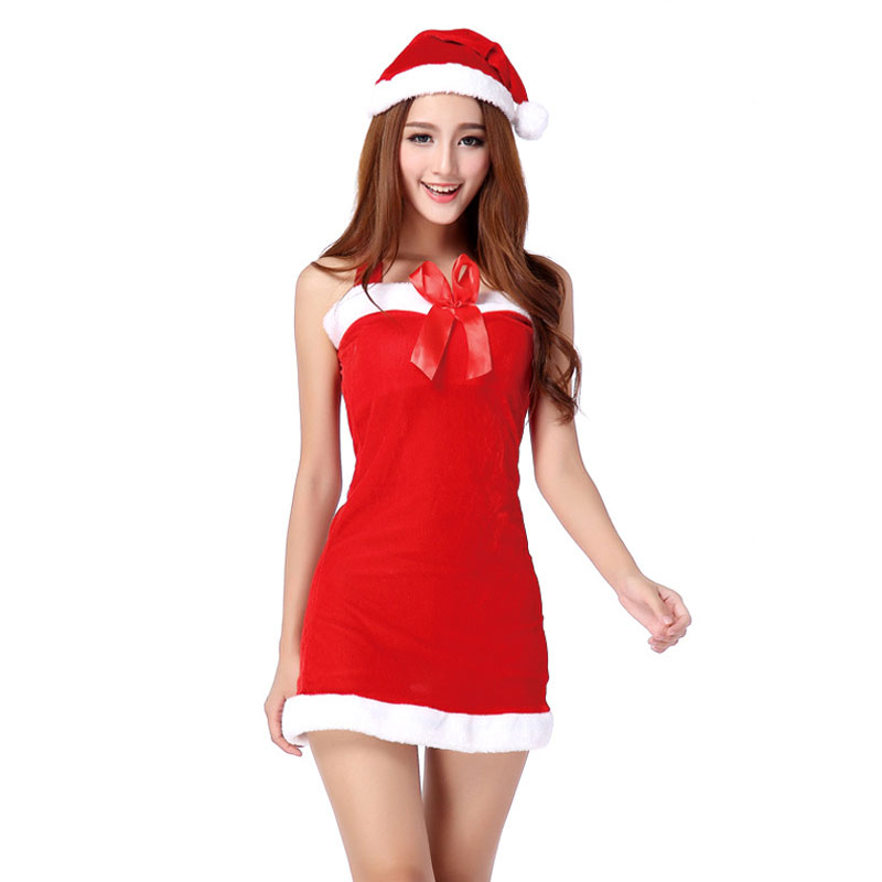 New Fashion Sexy Hot Ladies Christmas Red Santa Claus Costume Outfit Halter Dress Set New Year Merry Christmas Party Fancy Dress-in Sexy Costumes from ...  sc 1 st  AliExpress.com & New Fashion Sexy Hot Ladies Christmas Red Santa Claus Costume Outfit ...