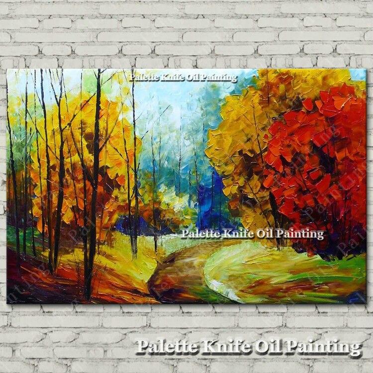 Ručně malované plátno Olejomalba Nástěnné obrazy pro obývací pokoj nástěnné dekorace umělecké plátno malování paleta nůž krajina 6