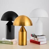 Replica Nordic mushroom table lamp black/white/golden modern living room bedroom bedside lamp study room decor desk lamp