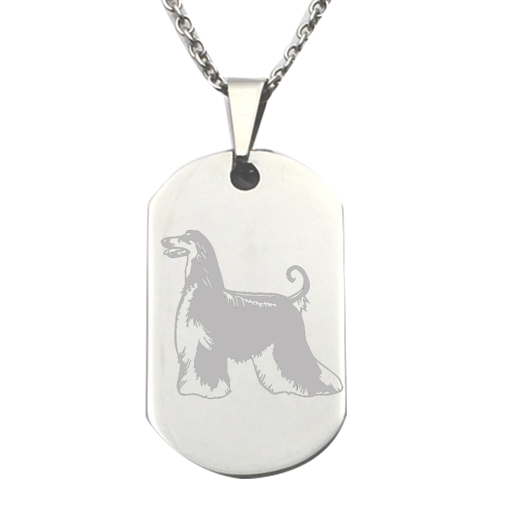 New Stainless Steel Zodiac Dog Tag Pendant Men S Women S: Customize Dog Logo Engraved 316L Stainless Steel Dog Tag
