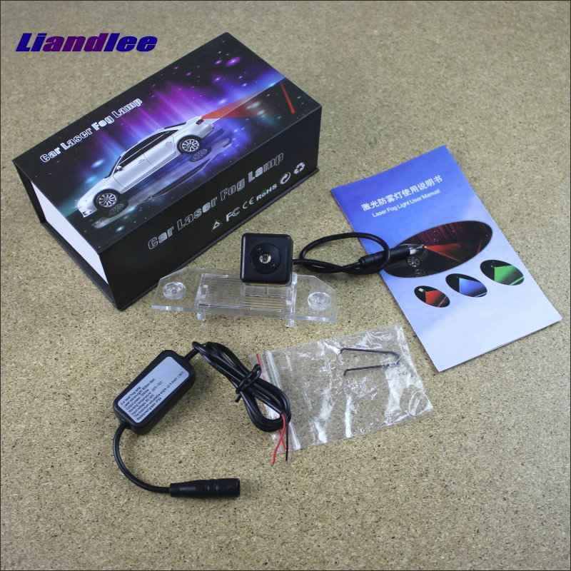 Liandlee Anti Collision Laser Fog Lights For Ford C-Max MK1 2003~2011 Car Rear Distance Warning Alert Line Safe Drive Light car tracing cauda laser light for volkswagen vw jetta mk6 bora 2010 2014 special anti fog lamps rear anti collision lights