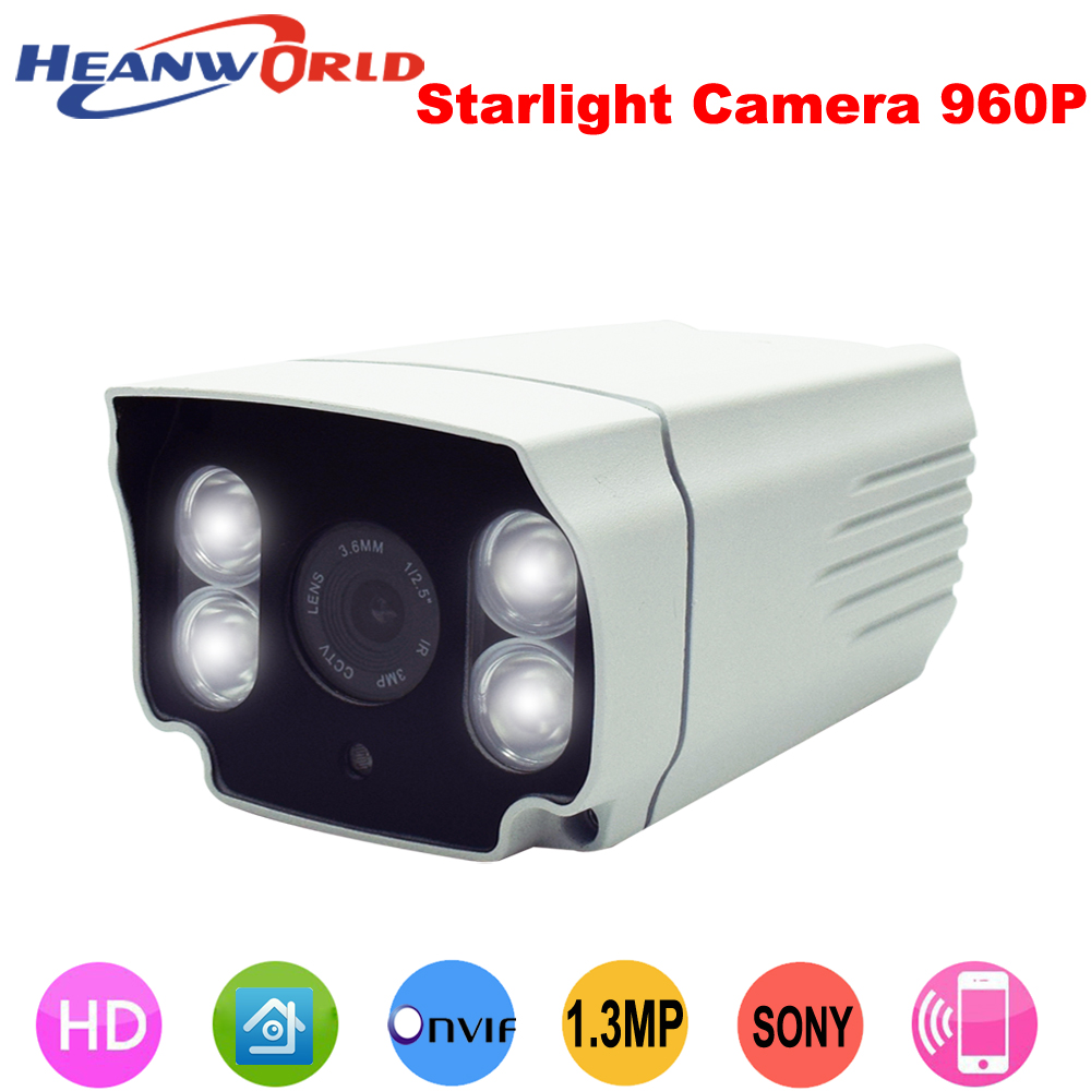 960P HD Stellar Sony sensor  IP camera  H.264+ Metal Waterproof  4PCS White light  LED  Security  indoor & outdoor CCTV Camera wistino cctv camera metal housing outdoor use waterproof bullet casing for ip camera hot sale white color cover case