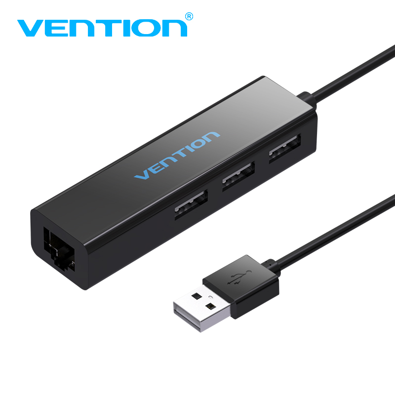 Vention USB HUB Ethernet Adapter USB 2.0 HUB 3 Port 10/100 Mbps Network Port usb to rj45 lan Wired Network Adapter USB Splitter ugreen 20267 usb 2 0 wired 100mbps network card adapter w 3 port usb hub white