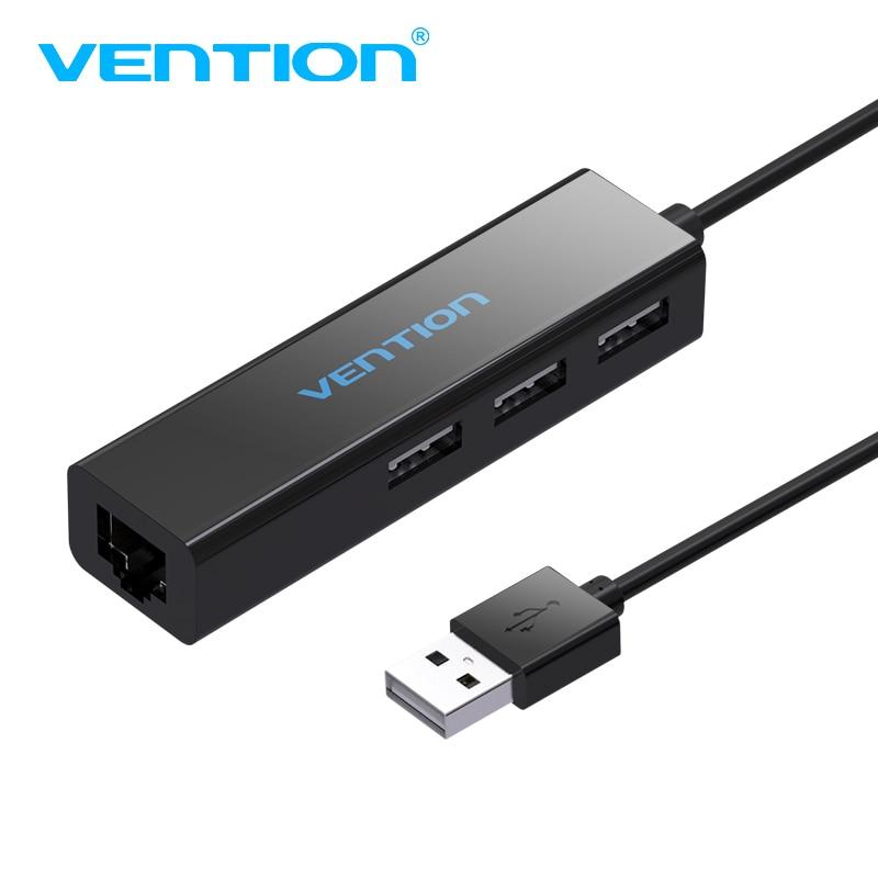 Vention USB HUB Ethernet adaptador USB 2,0 HUB 3 puertos 10/100 Mbps puerto de red usb a lan rj45 cable adaptador de red divisor USB