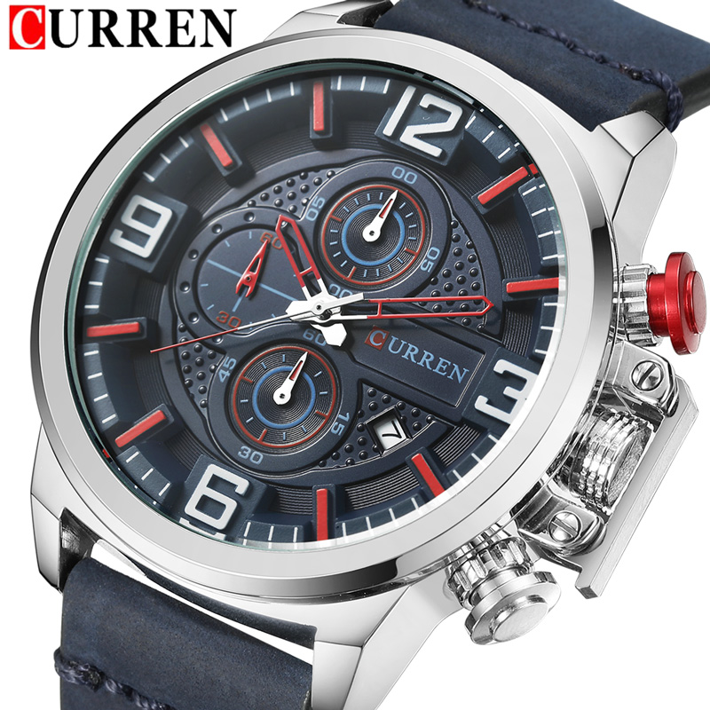 CURREN Date Chronograph Men Watch New Top Luxury Brand Sport Military Army Male Clock Leather Quartz Wrist Mens Watches Hot 8278 ochstin date chronograph sport top brand luxury mens watches casual quartz wrist men watch military army business male clock 046