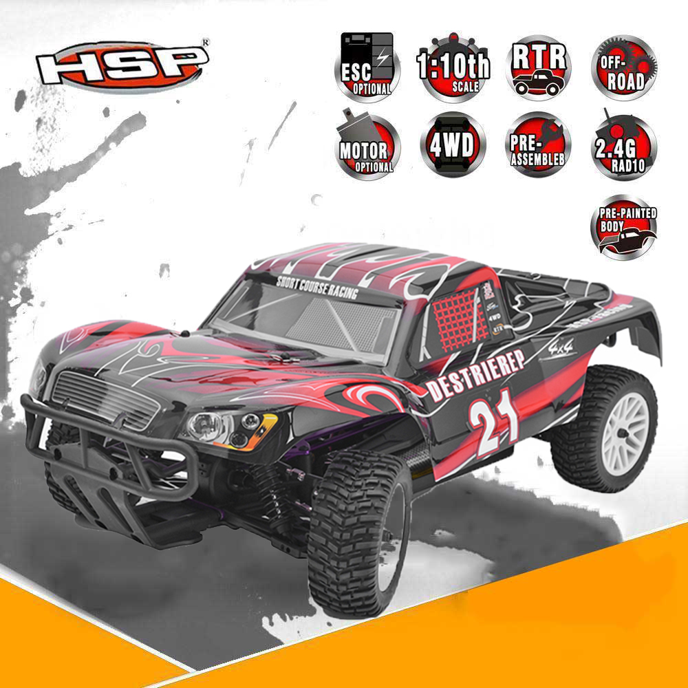 Original HSP 94170 RC Racing Car RTR 1:10 4wd Off Road Rally Truck 2.4Ghz LIPO Battery Electric Powered Remote Control Car 02023 clutch bell double gears 19t 24t for rc hsp 1 10th 4wd on road off road car truck silver