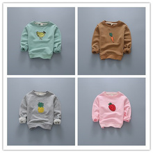 2016 Spring New Baby Girls boys girls sweater cartoon fruit long sleeve T-shirt jerseys baby kids clothes boys girls hoodies