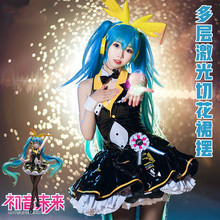 2019 VOCALOID V Girl Racing Miku Hatsune Bunny girl Cosplay Costume Women Dress For