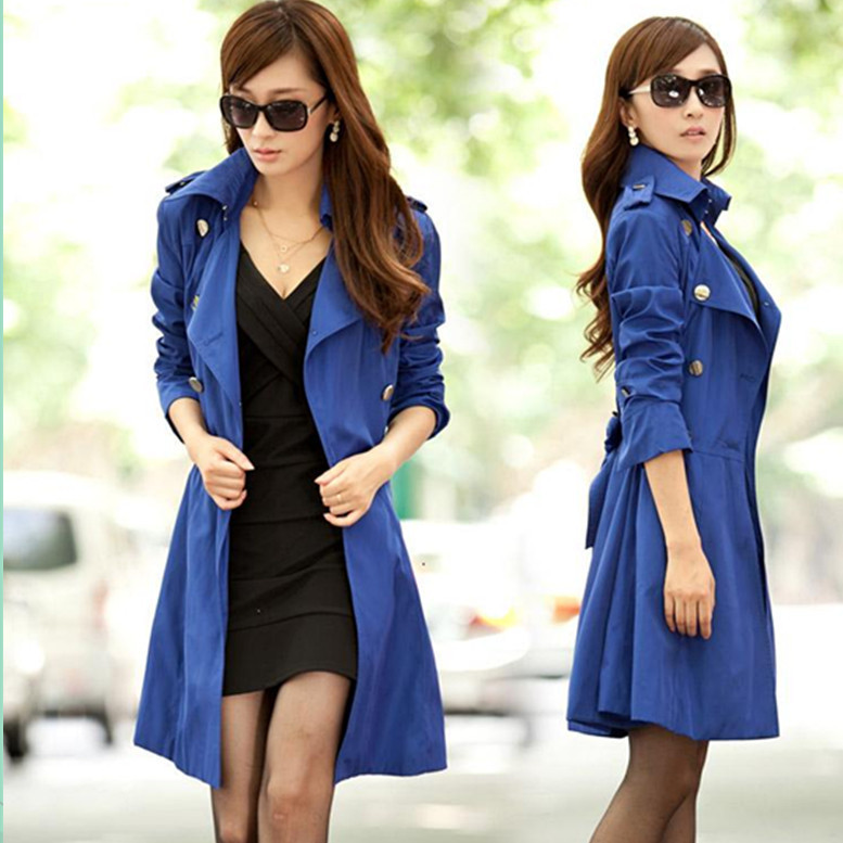 Ladies Long Spring Coats