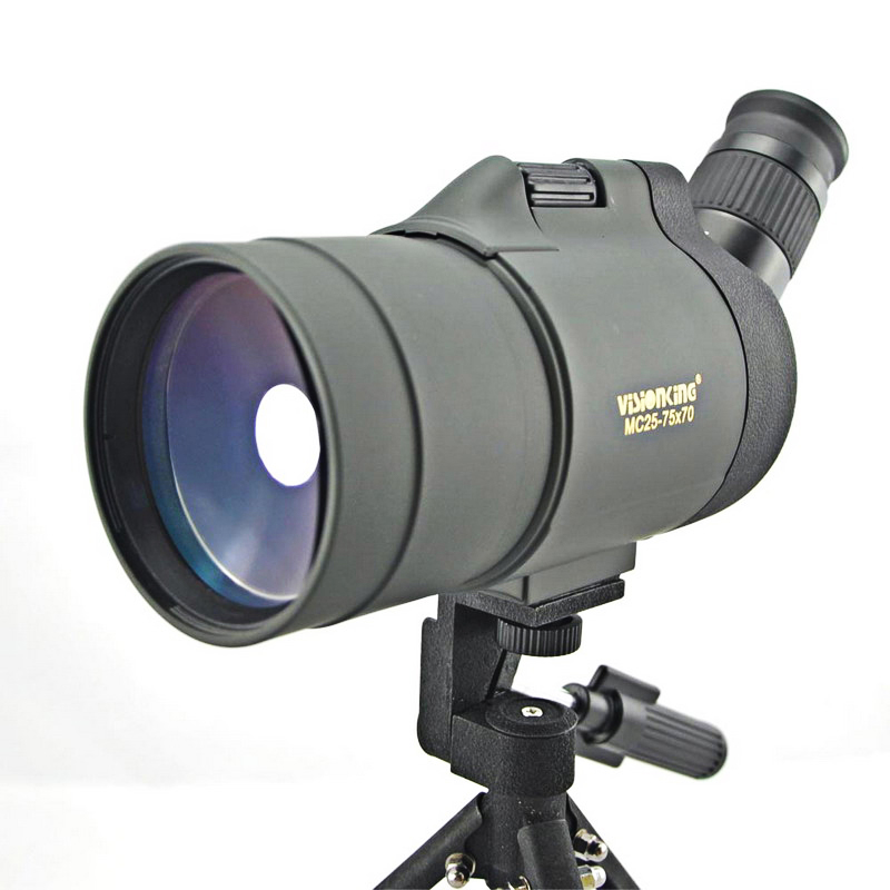Visionking 25-75x70 MAK Spotting Scope For Hunting/Birdwatching Outdoor Waterproof Spotting Scope BAK4 Telescope With Tripod