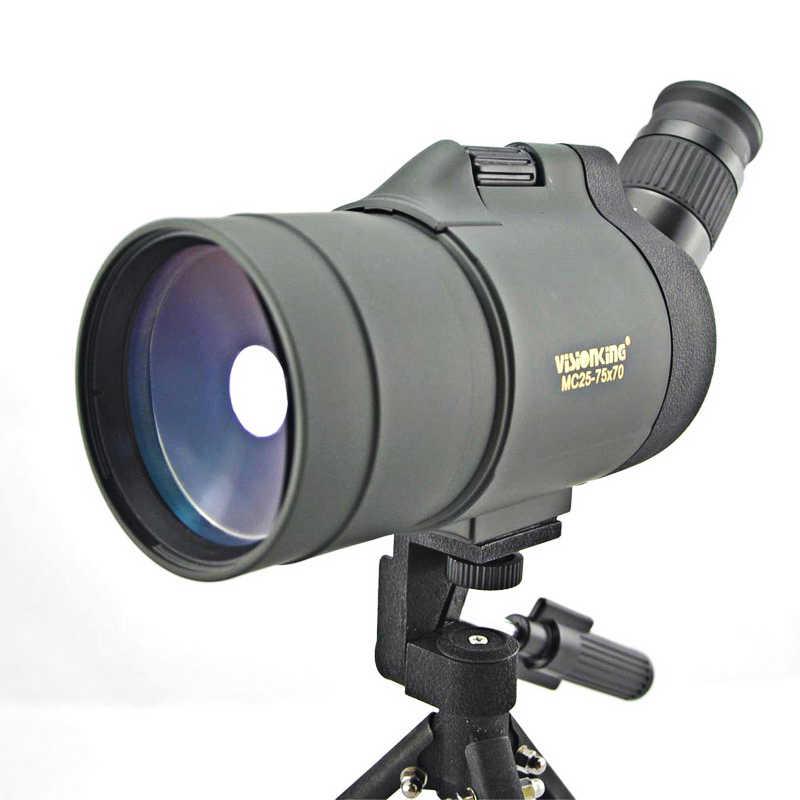 Visor para caza/avistaje de aves Visionking de 25-75x70 MAK, telescopio BAK4 con trípode para actividades al aire libre, resistente al agua
