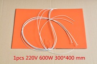 1pcs Silicone Heating Pad Heater 220V 600W 300 400 Mm For 3d Printer Heat Bed