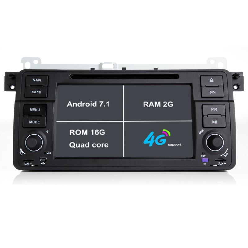 2 г Оперативная память Android 7.1 dvd-плеер автомобиля для BMW E46/m3/Rover/3 серии Радио GPS навигации магнитофон стерео с Bluetooth