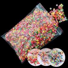 10000pcs/pack 3D Nail Art Fruit Fimo Slices Polymer Clay DIY Slice Decoration Smile Feather Nail Sticker Nail Jewelry Wholesale цена