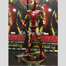 Avenger Iron Man Mark XLIII 43 1/6 Scale Pre-painted Model Kit with LED Light PVC Action Figure Collectible Model Toy 30cm