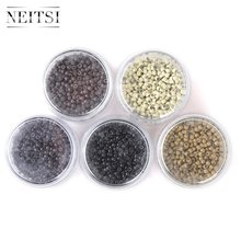 Neitsi 1000pcs/pack Silicone Nano Ring Beads For Micro Loop Links Keratin Human Hair Extensions 5 Colors Available(China)