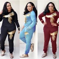 african women suits dashiki tops pants outfit suit 2 pieces set women bazin riche african lady clothing sale 2018 autumn summer