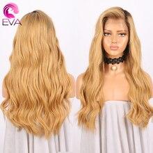 Омбре волосы объемная волна 150% плотность бразильские виргинские человеческие волосы парики полностью кружевные человеческие волосы парики предварительно выщипанные волосы Eva