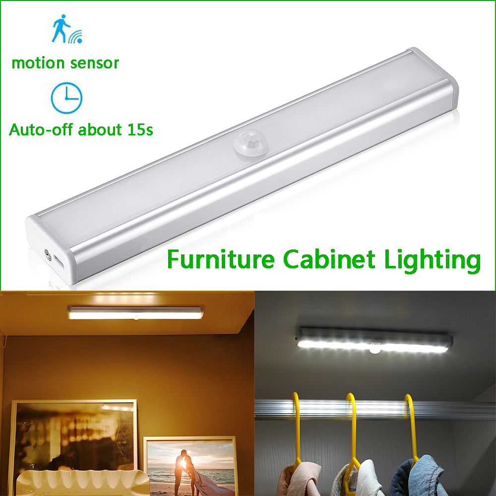 Usb Rechargeble Motion Sensor Closet Lights Under Cabinet Lightening Stick On Cordless Night Light Bar For Wardrobe