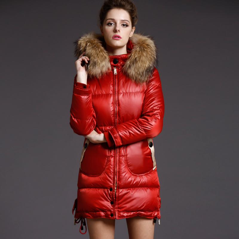 716422a54dad1 High Quality Italy Fashion Designer 2015 Winter Down Jacket Coat Women Snow  Wear Duck Down Parkas With Large Fur Collar Hoody-in Parkas from Women s ...
