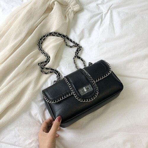 Chain Crossbody Bags PU...