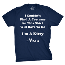 Im A Kitty Meow Halloween Costume T Shirt Funny Cat Shirts Sarcastic Harajuku Tops t shirt Fashion Classic Unique free shipping