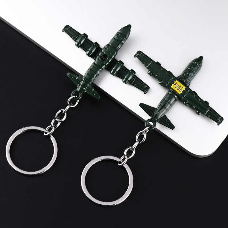 2019 New Jedi Survival Escape Kill Eat Chicken Game Surrounding Weapon Model 98K Sniper Rifle Metal Key Chaing Pendant Small PUB