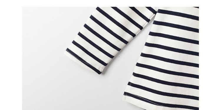 8319bebed823 ... Girls Set 2018 Spring Children Clothing Teens Kids Clothes Striped Full Sleeved  T Shirt + Long ...