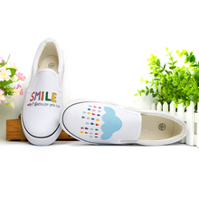 hot sales, summer fashion girl 2016 spring hand-painted shoes single shoes pedal women's shoes lazy small fresh canvas shoes
