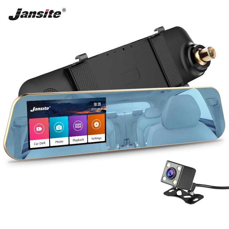 Jansite Car-Cam Recorder Dvr Touch-Screen G-Sensor Dual-Lens Night-Vision Sd/tf-Card