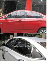 2010 2011 For Hyundai VERNA Solaris High Quality Stainless Steel Window Trim Cover Up Down Posterior