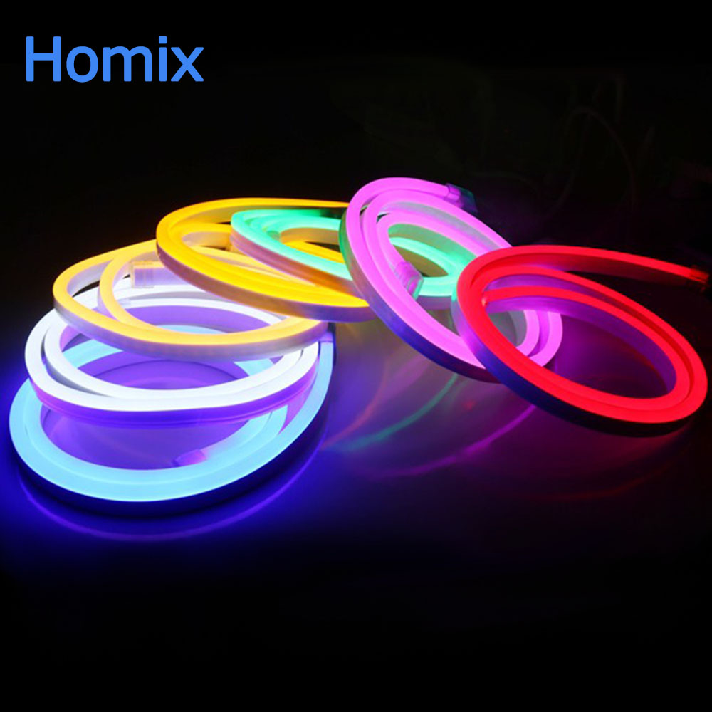 Us 7 68 32 Off Homixs Ac220v Led Strip Neon Lights Flexible Soft Light Outdoors Advertizing Decorate Enseigne In