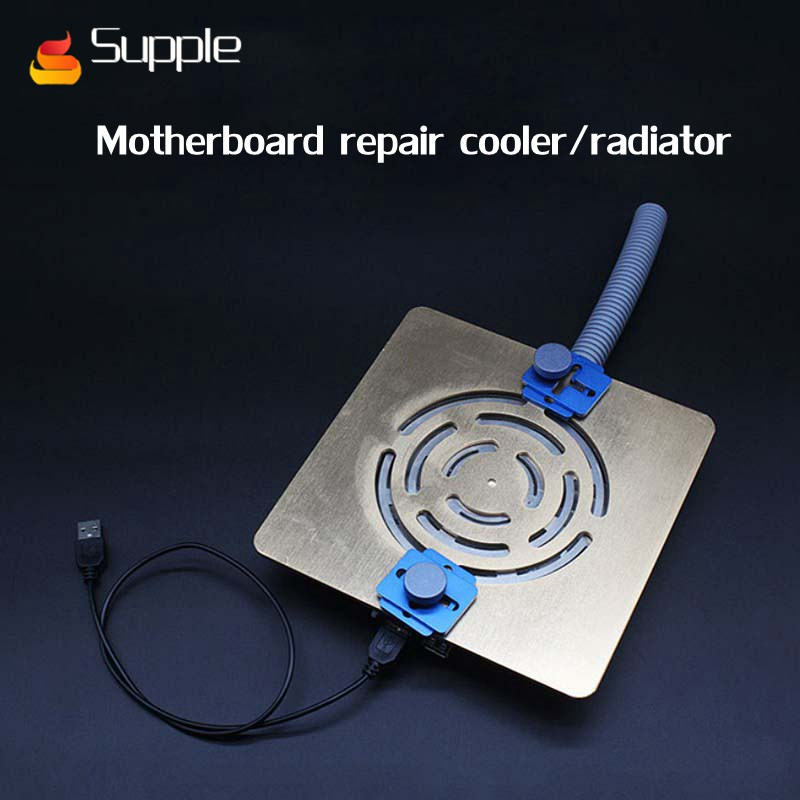 Supple 2018 Heat Radiator CPU Cooler Fan Cooling Heatpipe with 780mm Exhaust pipe for motherboard repair Dust and antivirus computer cooler radiator with heatsink heatpipe cooling fan for hd6970 hd6950 grahics card vga cooler