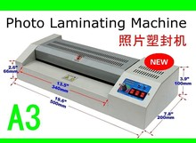 цена A3 Size Pouch laminator film photo laminating machine & heated roll laminating machine cold & hot lamintor apply to A4 4R 5R A6