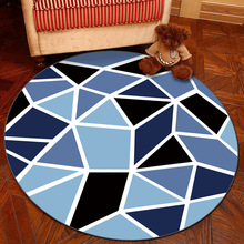Nodic Geometric Room Round Carpet Living Bedroom Home Decor Rug Children Kids Soft Play Area Chair Mat