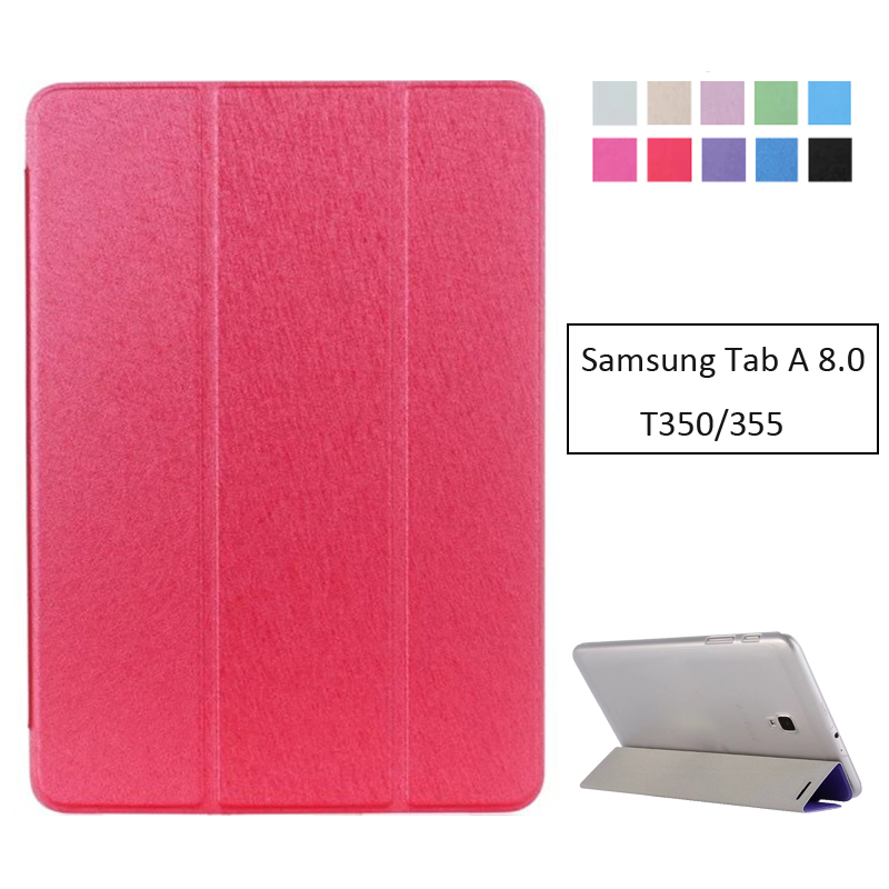 Pu Leather Case Cover For Samsung Galaxy Tab A 8.0 2016 T350 T355 SM-T350 SM-T355 Tablet Cover Transparent Slim Shell