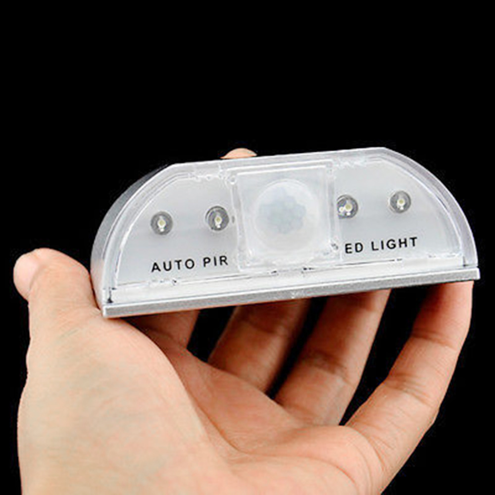LightInBox 4Leds Led Sensor Motion Lamp Night Light Motion Sensor Detector LED Light Lamp Silver For 1*AA battery ...