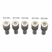 50 adet 6mm düşük basınç 0.2 0.6mm paslanmaz çelik sis Misting memeleri 6mm konnektörler bahçe su sulama yağmurlama armatürleri