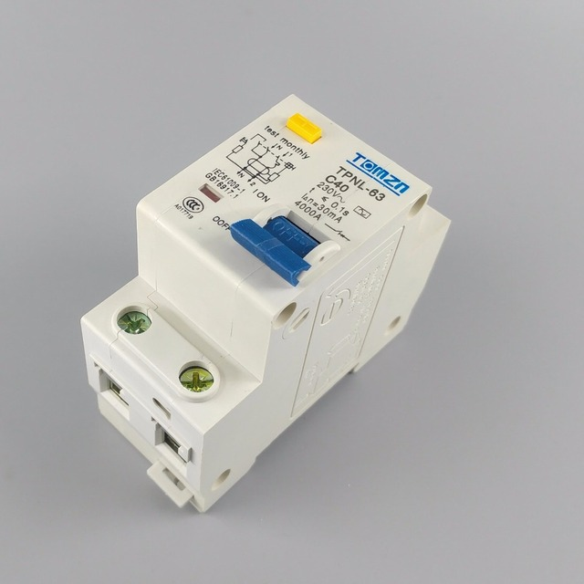 TPNL DPNL 230V 1P+N Residual current Circuit breaker with over and short current  Leakage protection RCBO MCB 10