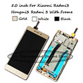 Para xiaomi hongmi redmi 3 3 s pro redmi3 3 s pro/principal LCD Display + Touch Screen Digitador Assembléia Substituição + Com quadro