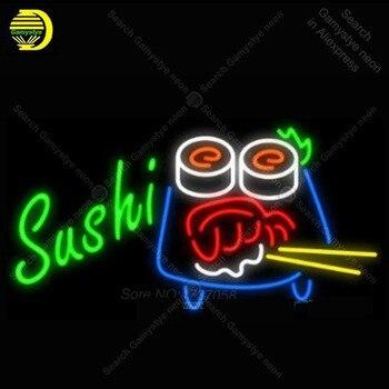 Neon Sign สำหรับซูชิตะเกียบ NEON glass หลอดร้านอาหาร Handcraft อาเขตโคมไฟนีออนสำหรับเบียร์ Custom nein ป้าย