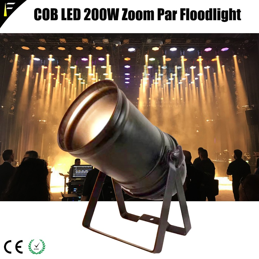 Floodlight Par56 200w Cob Led Zoom Par Can Gold Color Warm White Warm Spot Light Par 200w 5chs Dmx512 With Traditional Housing