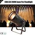 Proiettore PAR56 200 w COB LED Zoom Par Can Colore Oro Caldo Luce del Punto Bianco Caldo Par 200 w 5CHS DMX512 con la Tradizionale Alloggiamento