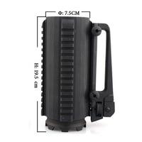 Black Tactical Military Multifunction Aluminum Detachable Carry Battle Rail Mug Cup 7