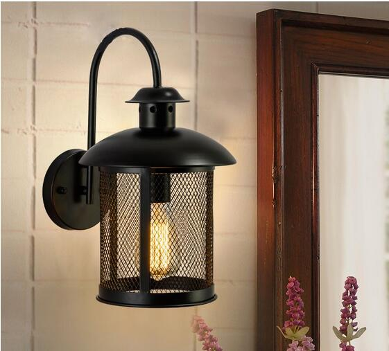 MODERN VINTAGE INDUSTRIAL LOFT RUSTIC CAGE SCONCE WALL LIGHT WALL LAMP FIXTURE