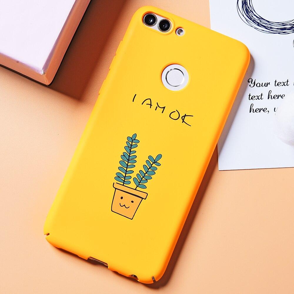 DULCII Cute Cartoon Bag for Huawei Enjoy 7S Cases Pattern Printing Hard Shell Case for Huawei P Smart Enjoy 7S Cover Bag Giraffe