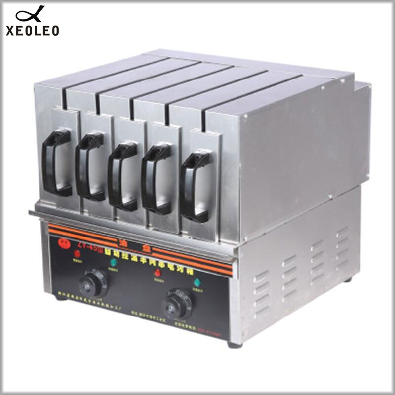 XEOLEO 5 Group Commercial Skewer machine 3600W BBQ Electric Grill machine Kebab Barbecue Machine Smokeless Barbecue Maker