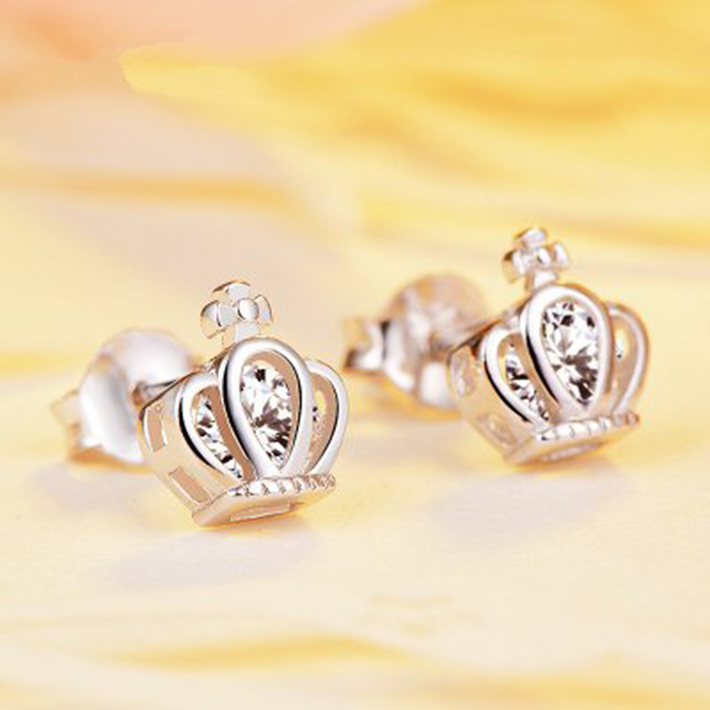 Temperament Personality Retro Smart Crown Earrings For Women Wedding Earings Girl Jewelr ...
