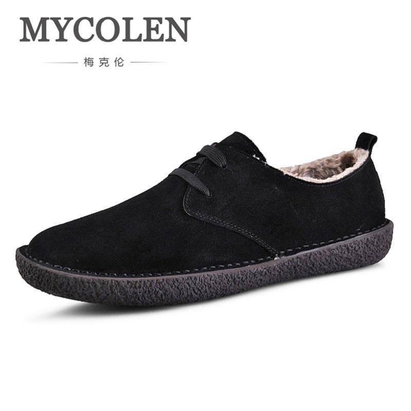 MYCOLEN Canvas Men Shoes Denim Lace-Up Men Suede Leather Brushed Casual Shoes New 2018 Plimsolls Male Footwear Spring Autumn 2017 new spring imported leather men s shoes white eather shoes breathable sneaker fashion men casual shoes