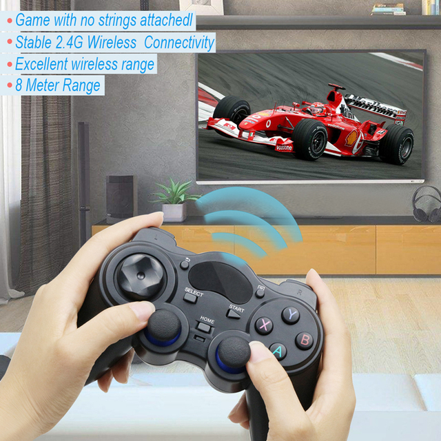 2.4 G Controller Gamepad Android Wireless Joystick Joypad with OTG Converter For PS3/Smart Phone For Tablet PC Smart TV Box 6